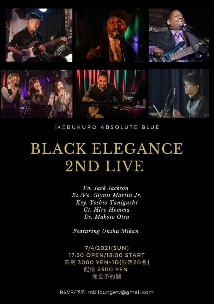 Blak Elegance second live flyer